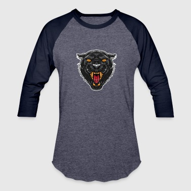 Angry Panther | Large Cat | Mascot - Baseball T-Shirt