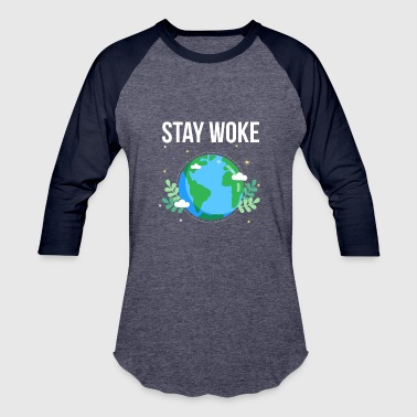 Happy Flat Earth Day Funny Design - Baseball T-Shirt