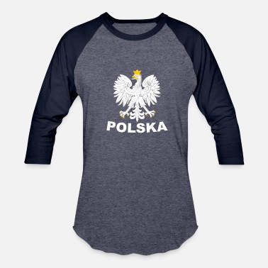 Duma Polska Eagle / Polish Pride Design Coat of Arms - Baseball T-Shirt