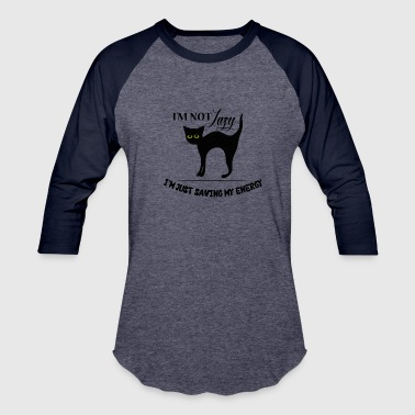 Cat - Lazy cat which is not lazy! - Baseball T-Shirt
