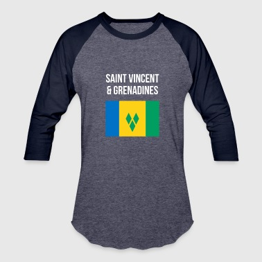 Saint Vincent And The Grenadines Saint Vincent and the Grenadines - Baseball T-Shirt