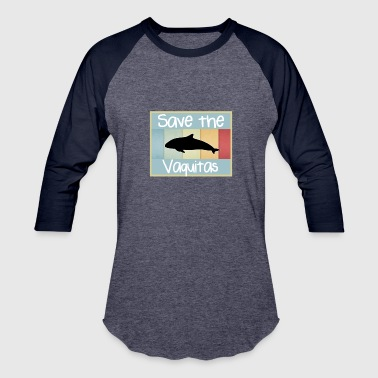Save the vaquitas | Retro vintage 1970s style - Baseball T-Shirt