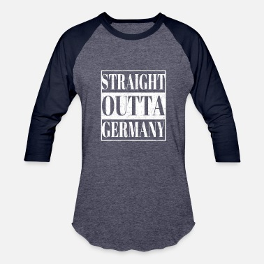 Immigrant Germany Straight Outta Germany - Baseball T-Shirt