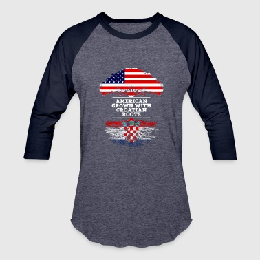 American Croatian American Grown With Croatian Roots - Baseball T-Shirt