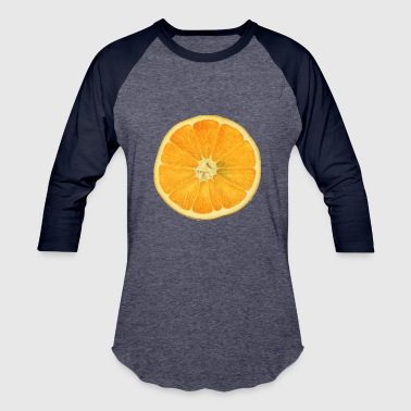 Smile, Orange - Baseball T-Shirt