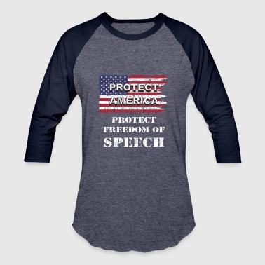 Freedom Of Speech And A Free Press U.S. Flag wh - Baseball T-Shirt