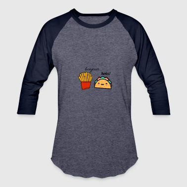Taco and fries - Baseball T-Shirt