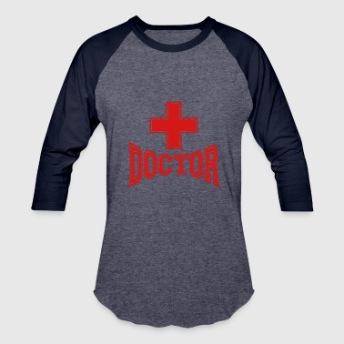 cross text doctor listening heartbeat pulse doctor - Baseball T-Shirt