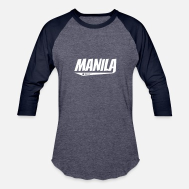 Filipino Vintage Manila Retro Comic Book Style Logo - Baseball T-Shirt