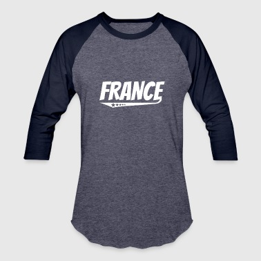 French Comic France Retro Comic Book Style Logo French - Baseball T-Shirt
