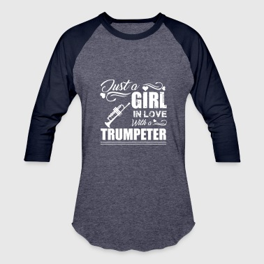 Girl Trumpet Girl In Love With Trumpeter Shirt - Baseball T-Shirt