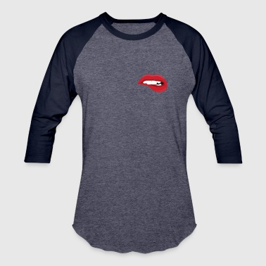 Bite Me Lips - Baseball T-Shirt
