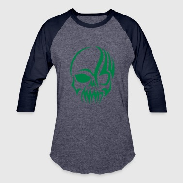 Tribal Skull Silhouette - Baseball T-Shirt