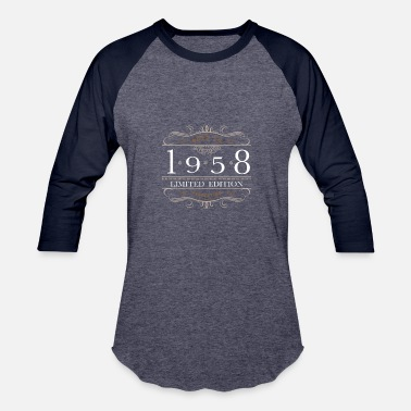August 1958 Limited Edition 1958 Aged To Perfection - Baseball T-Shirt
