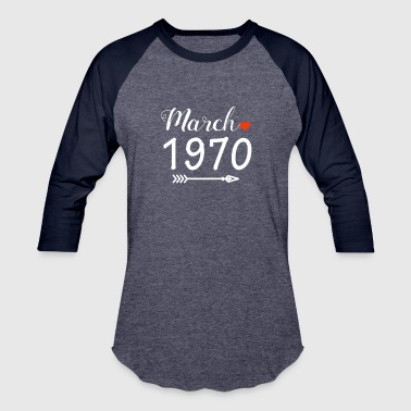 1970 December March 1970 Heart And Arrow - Baseball T-Shirt
