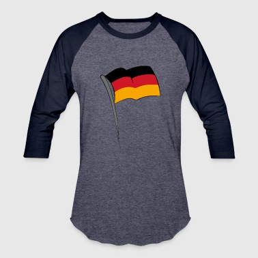 Flag - Germany - Baseball T-Shirt
