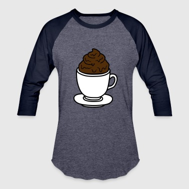 Chocolate cup coffee chocolate cocoa tea shit feces disgusti - Baseball T-Shirt