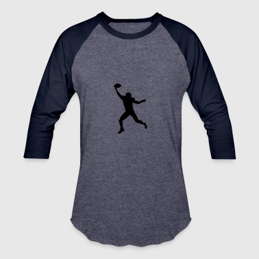 Football Wide Receiver Silhouette - Baseball T-Shirt