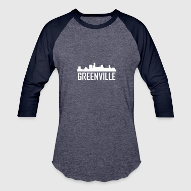 Greenville South Carolina City Skyline - Baseball T-Shirt