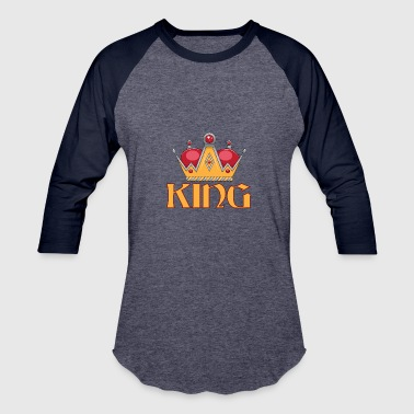 Gold King Crown red gold king crown - Baseball T-Shirt