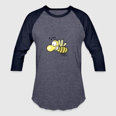 Bee Smile Funny Bee Smiling - Baseball T-Shirt