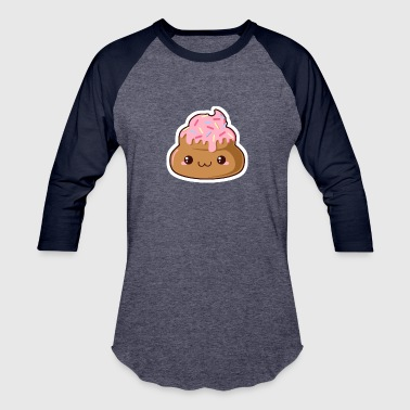The Donut Poop Funny - Baseball T-Shirt