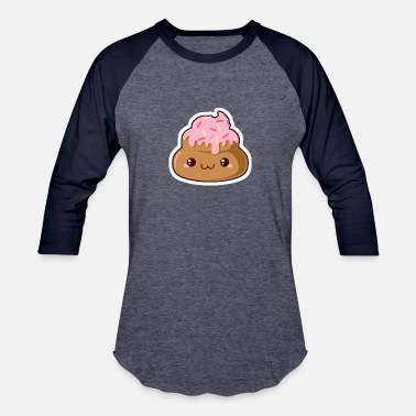 Shit The Donut Poop Funny - Baseball T-Shirt