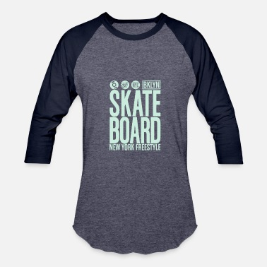 Freestyle Music Skate board freestyle - Baseball T-Shirt