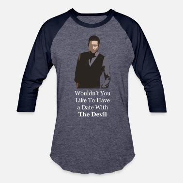 White Devil Date With The Devil white - Baseball T-Shirt