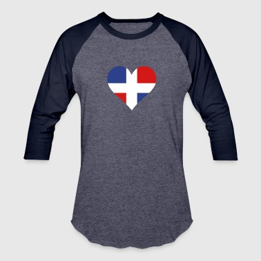 Antilles A Heart For The Dominican Republic - Baseball T-Shirt