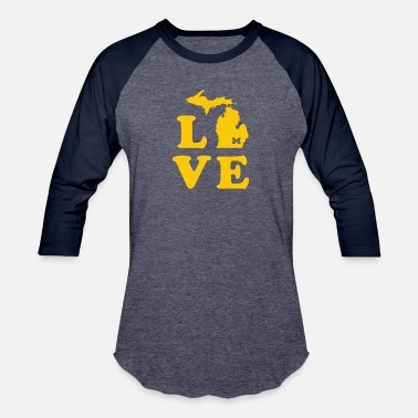 Maize Love for A-maize-ng Michigan - Baseball T-Shirt