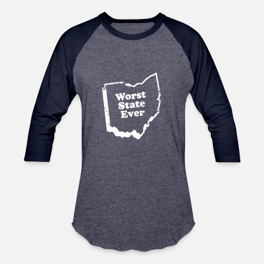 Cincinnati ohio worst state ever - Baseball T-Shirt
