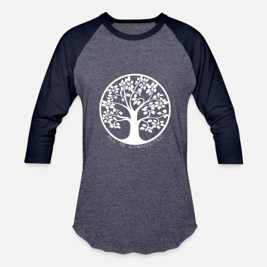 Tree Tree of connections white - Tree of life - Unisex Baseball T-Shirt