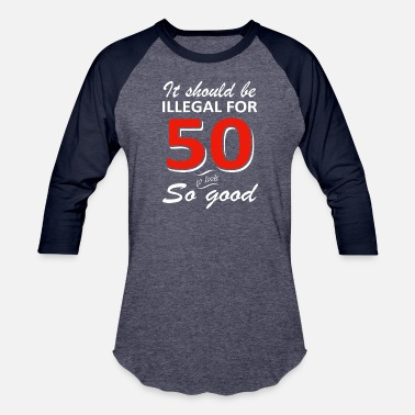 50th Birthday Merchandise Funny 50th year old birthday designs - Baseball T-Shirt