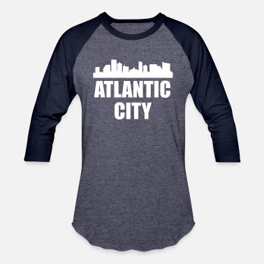 Atlantic City Nj Atlantic City NJ Skyline - Baseball T-Shirt