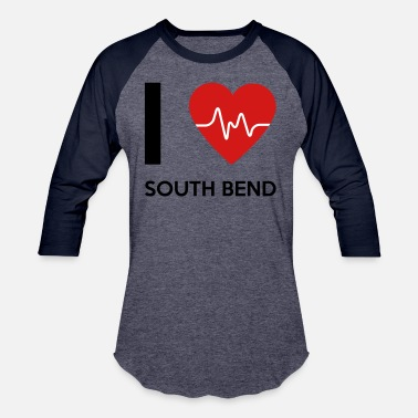 South Bend I Love South Bend - Baseball T-Shirt