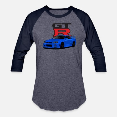R34 Skyline R34 - Baseball T-Shirt