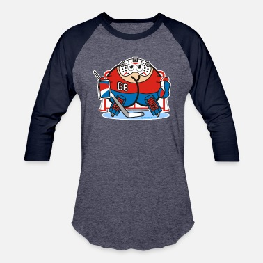 Ice Hockey Comic Assmex ice hockey goalie - Baseball T-Shirt