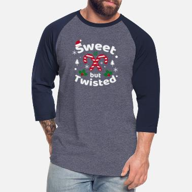 Twisted Sweet But Twisted Candy Cane Funny Christmas - Unisex Baseball T-Shirt