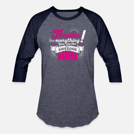 Mother's Day T-Shirts - Mothers day! Mother! Mum - Unisex Baseball T-Shirt heather blue/navy