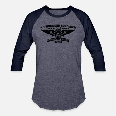 Wounded No Wounded - Unisex Baseball T-Shirt