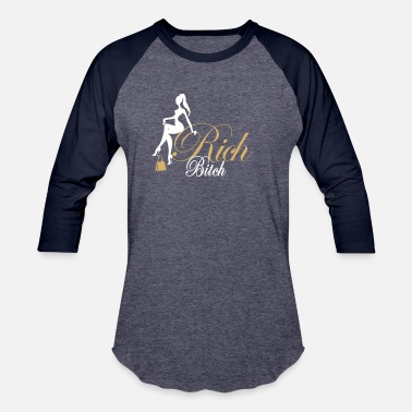 White Bitches Rich Bitch White Gold - Unisex Baseball T-Shirt