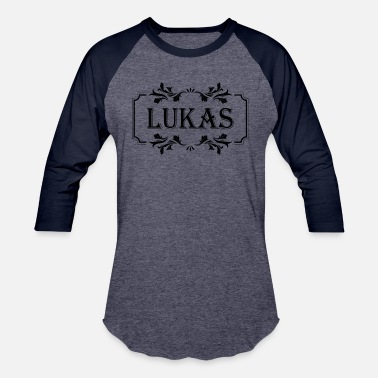 Lukas First Name Lukas boy guy man male gift idea - Baseball T-Shirt
