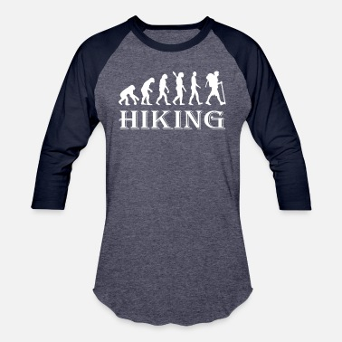 Hiking Evolution Evolution Hike Hiking - Baseball T-Shirt