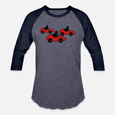 Drive race race car driving license fast dog cute sweet - Baseball T-Shirt