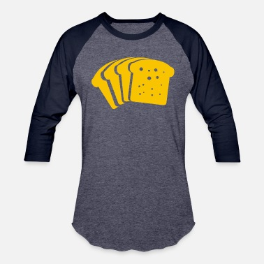 cheese bread - Unisex Baseball T-Shirt
