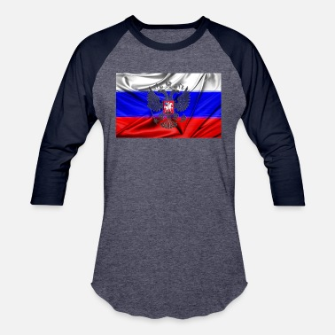 Flags Russian russian flag - Baseball T-Shirt