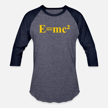 E=mc² - Albert Einstein - maths - mathematics - Unisex Baseball T-Shirt