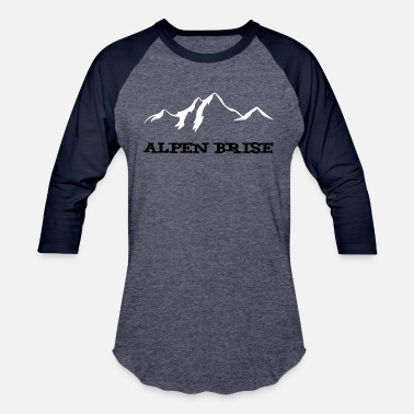 Alps Alps Breeze Mountains / Mountain Air - Unisex Baseball T-Shirt