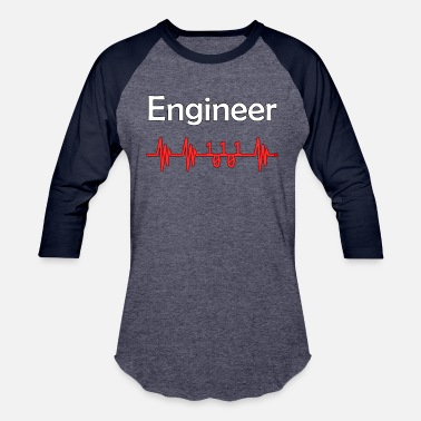 Engineer Breath - Unisex Baseball T-Shirt